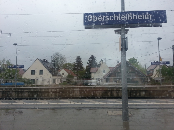 One of the train stops on the way to city center