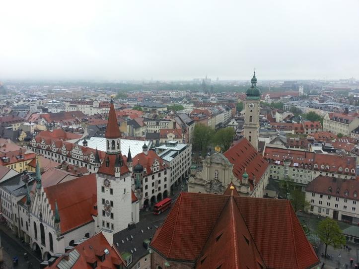 rooftops near Marienplatz