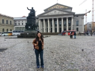 In front of the Bavarian State Theatre